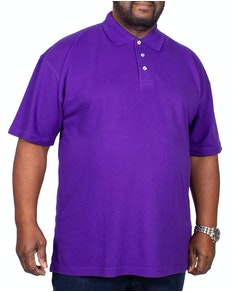 RTY Pique Polo Shirt Purple