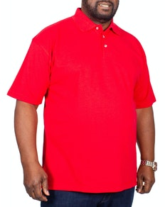 RTY Pique Polo Shirt Red