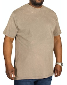 Bigdude Washed Crew Neck T-Shirt Grey