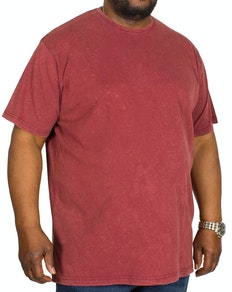 Bigdude Washed Crew Neck T-Shirt Burgundy