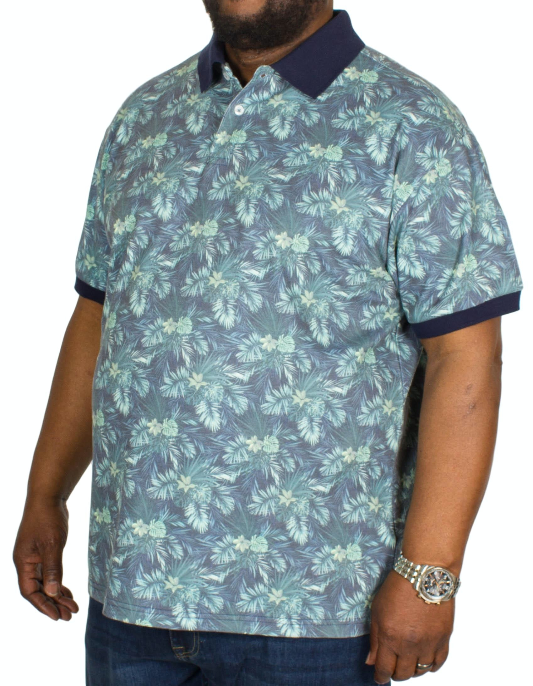 Replika Flower Polo Shirt Green