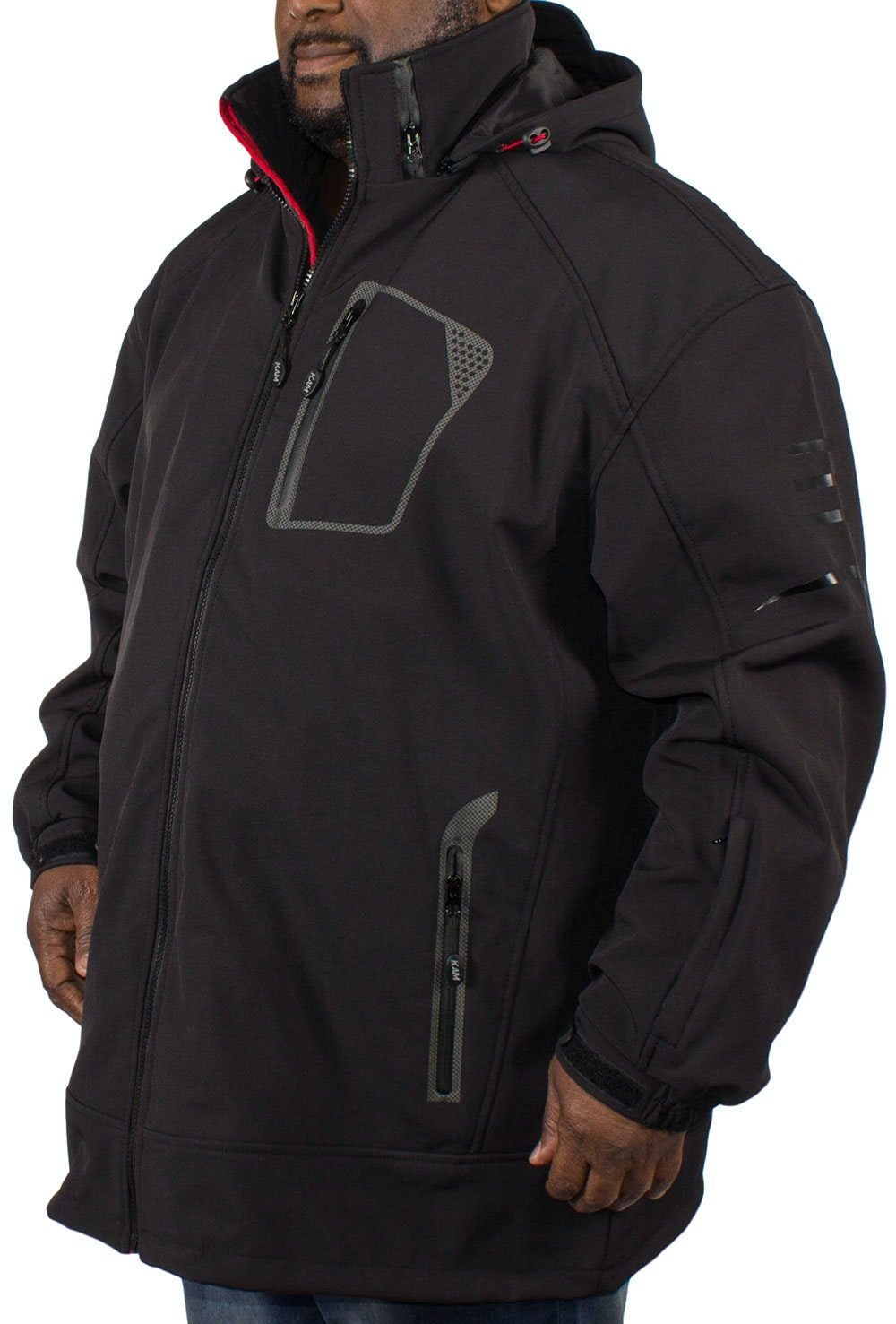 KAM Soft Shell Performance Jacket Black