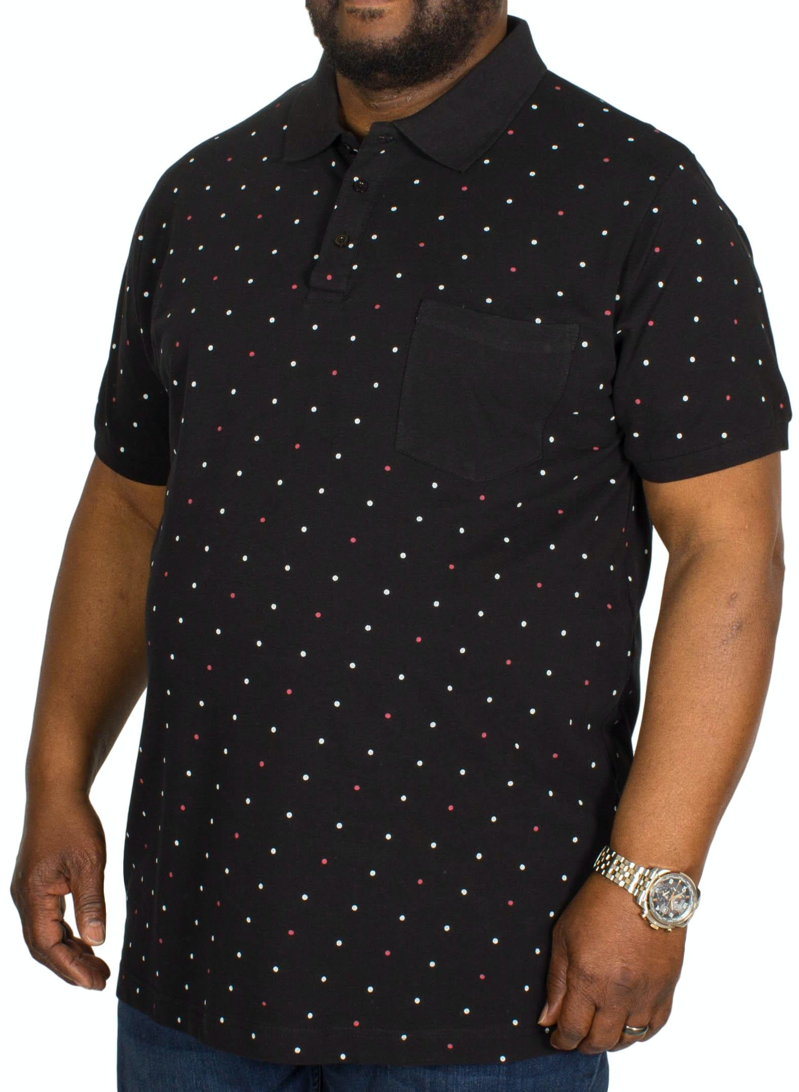 Bigdude Dotted Polo Shirt Black