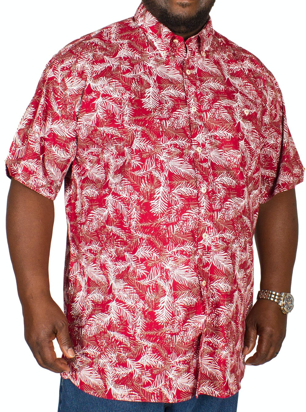 Espionage Fern Print Shirt Wine