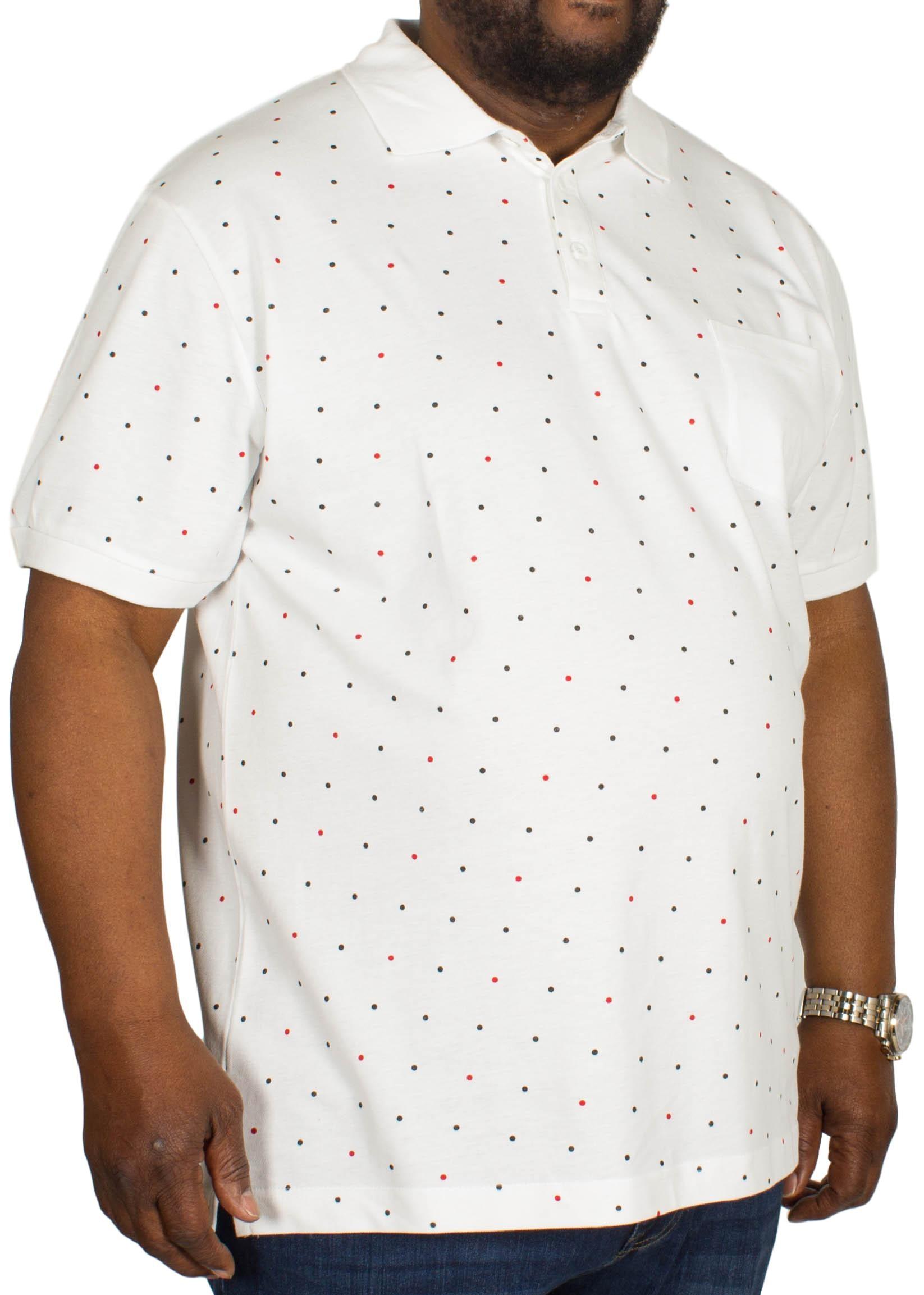 Bigdude Dotted Polo Shirt White