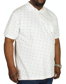Bigdude Dotted Polo Shirt White
