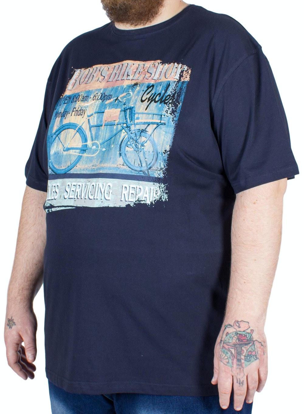 Metaphor Bob's Bike Print T-Shirt Navy
