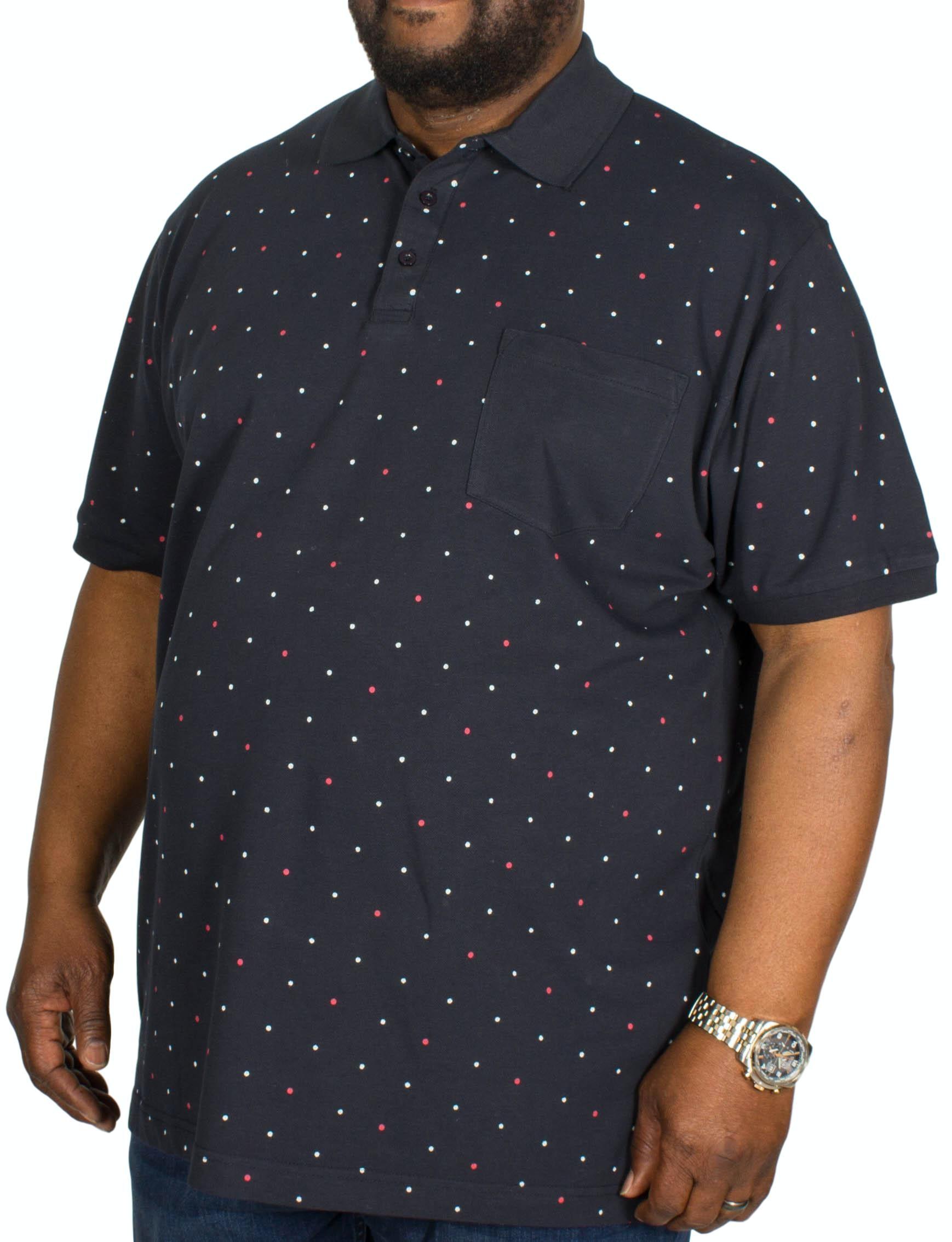 Bigdude Dotted Polo Shirt Navy