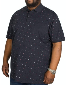 Bigdude Dotted Polo Shirt Navy