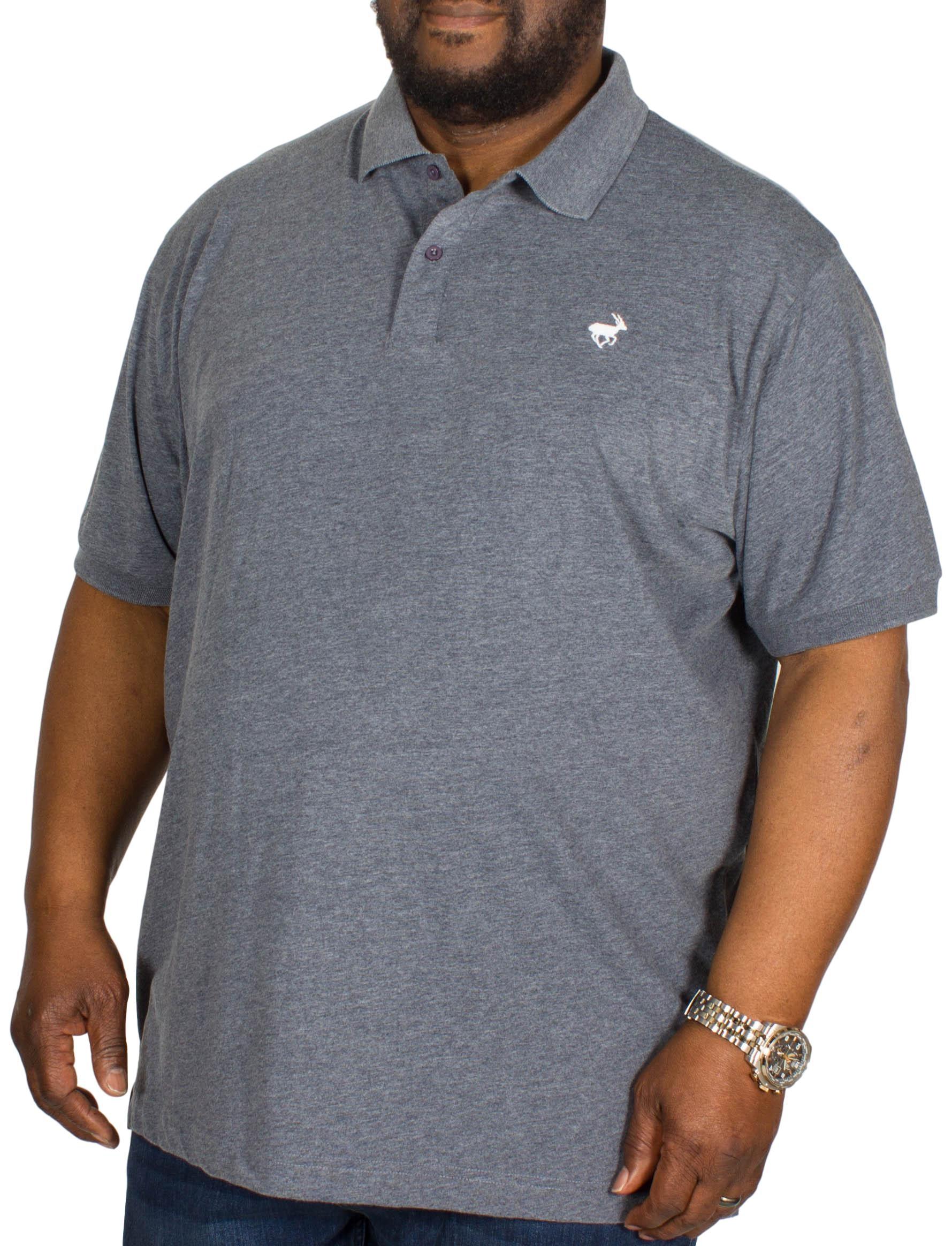 Bigdude Jersey Marl Polo Shirt Navy