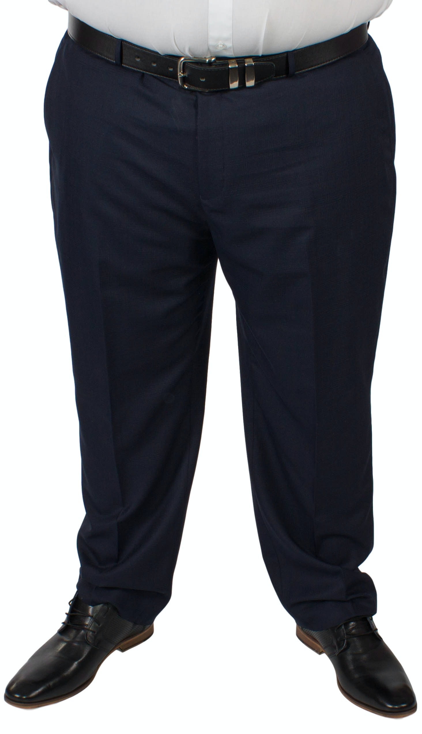 McCarthy Dante Check Navy Trousers