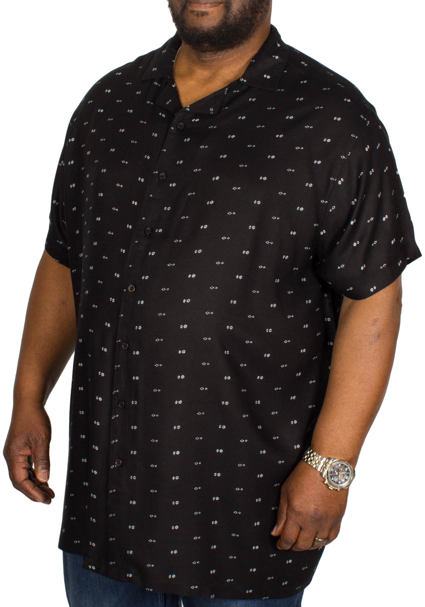 D555 Luciano Bowling Shirt Black