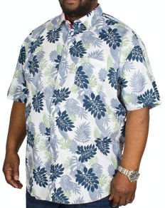 KAM Floral Print Short Sleeve Shirt