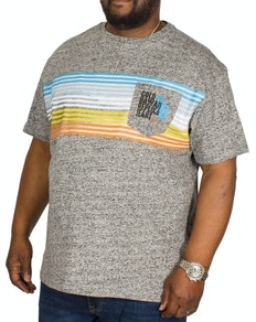 Replika Stripe Printed T-shirt Grey