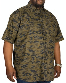 Cotton Valley Camouflage Short Sleeve Shirt Khaki
