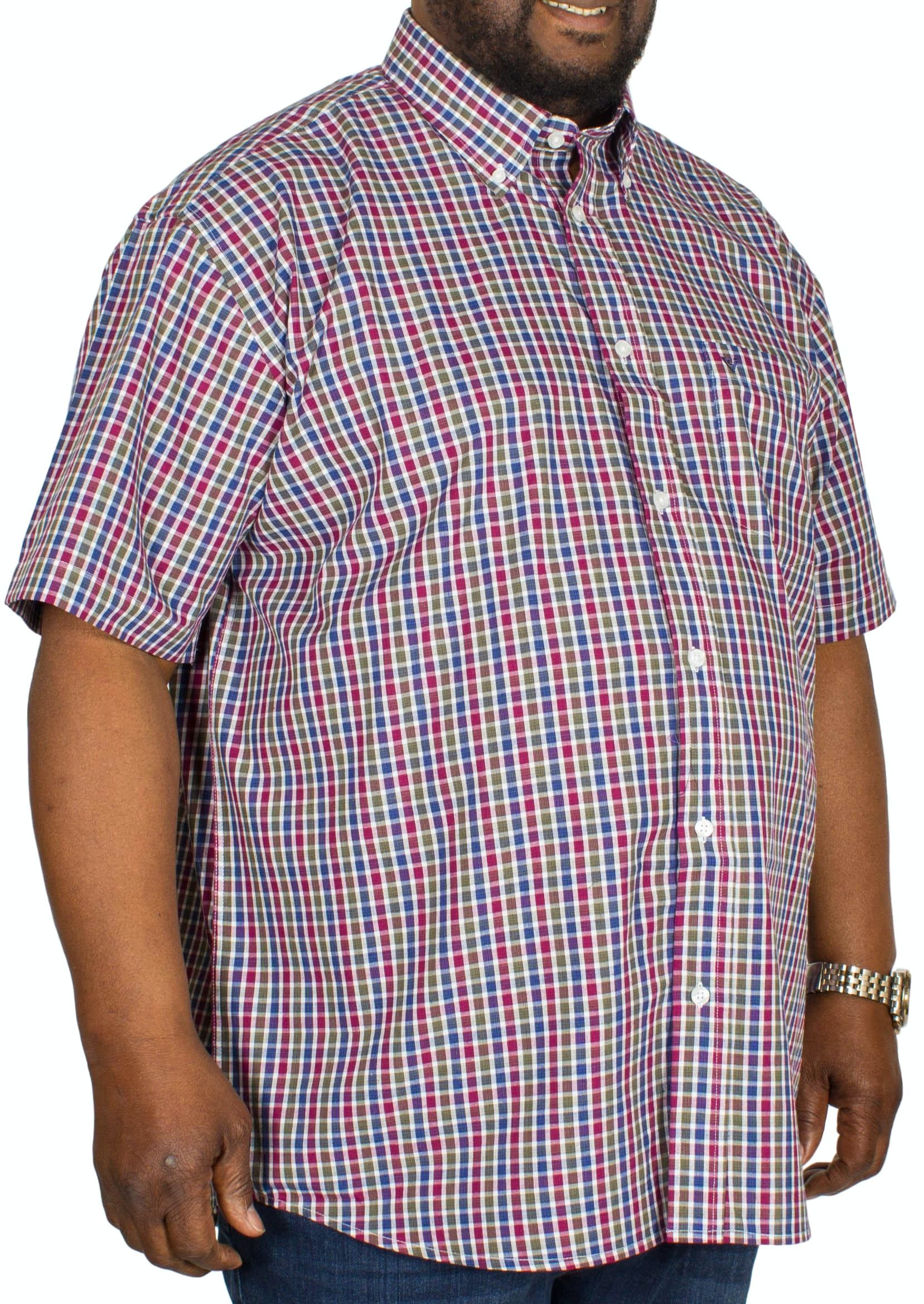 Cotton Valley Check Short Sleeve Shirt Berry