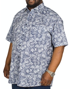 Cotton Valley Hawaiian Short Sleeve Shirt Blue