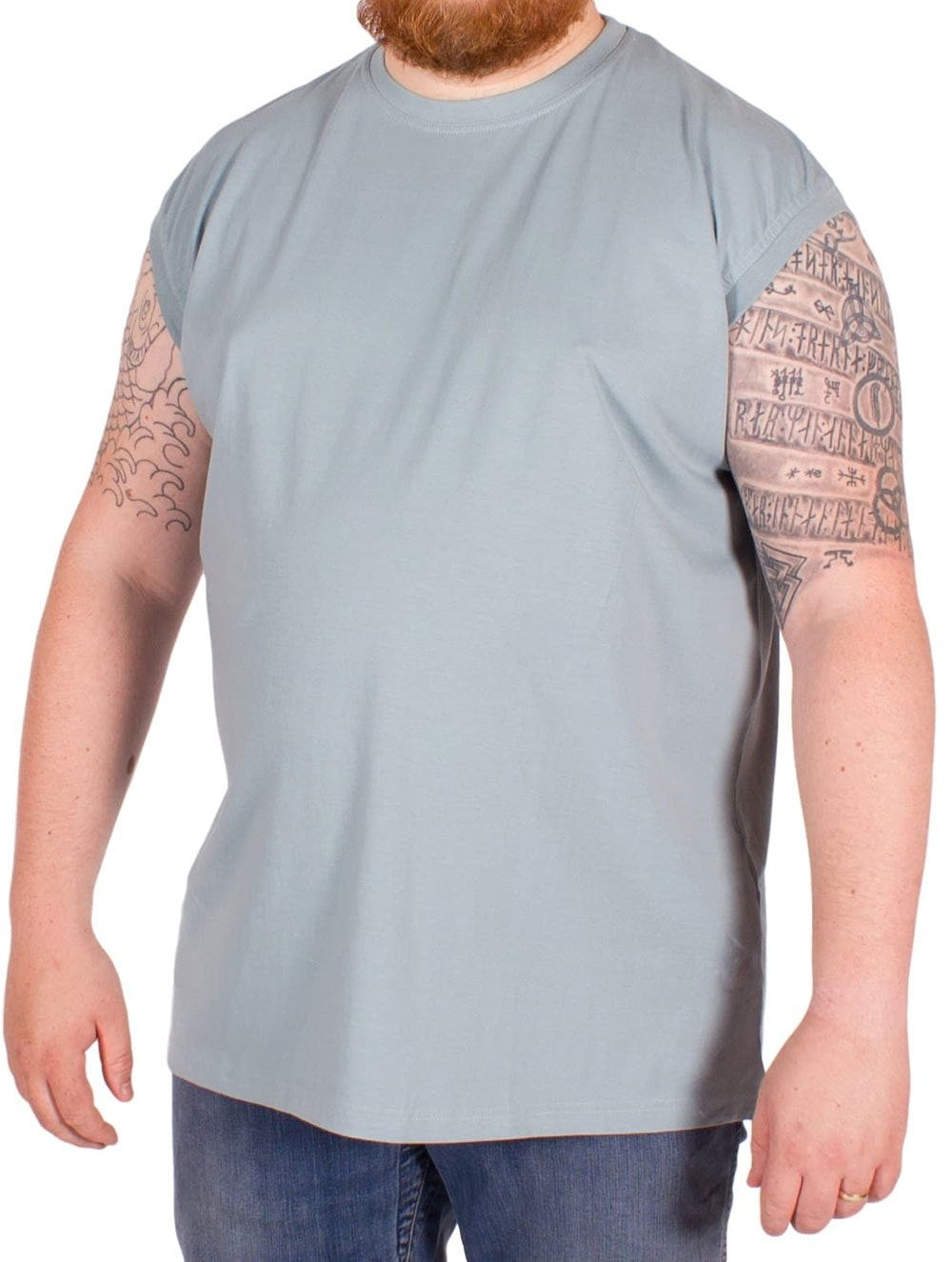 Metaphor Sleeveless T-Shirt Blue