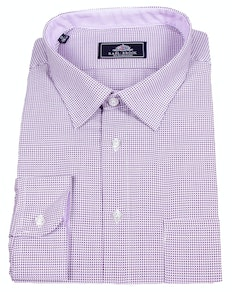 Rael Brook Dog Tooth Long Sleeve Shirt Lilac