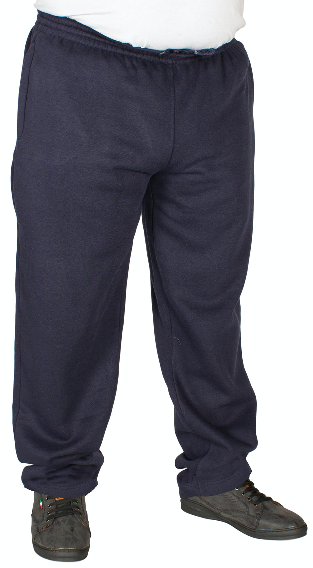 Duke Navy Open Hem Joggers