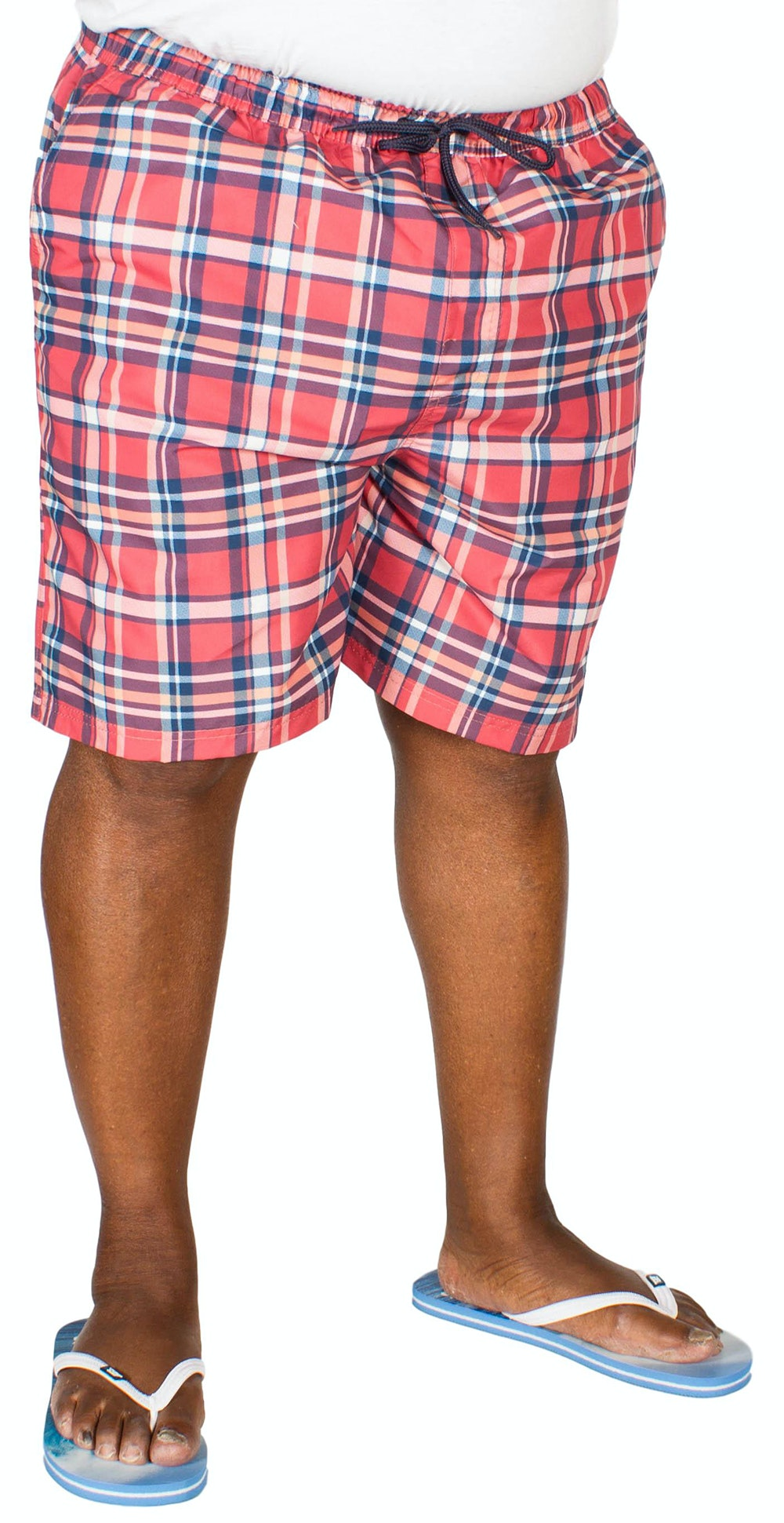 Espionage Check Swim Shorts Coral