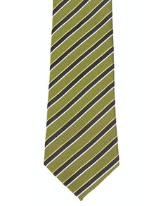 Knightsbridge Extra Long Stripes Tie Green/Black