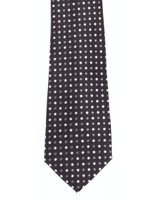 Knightsbridge Extra Long Polka Dot Tie Charcoal/White
