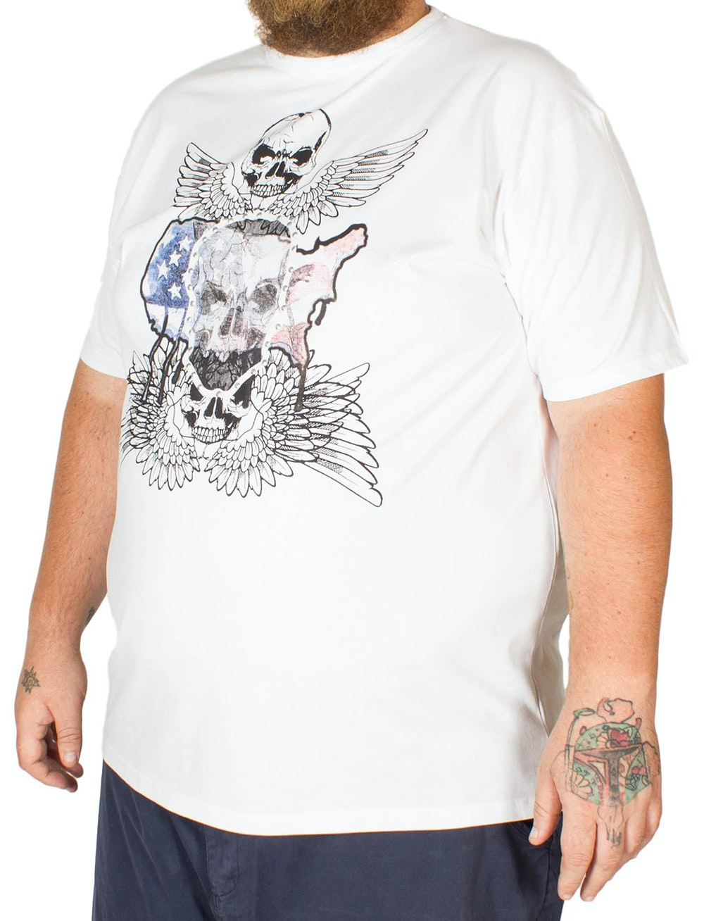 Metaphor Skull Wings Print T-Shirt White