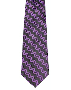 Knightsbridge Extra Long Waves Tie Purple
