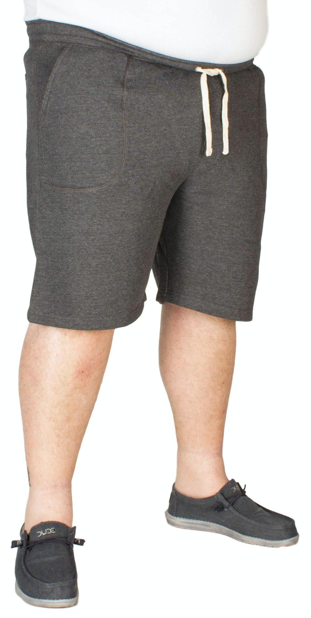 Espionage Plain Fleece Shorts Charcoal