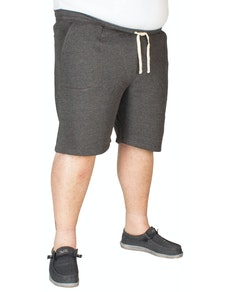 Espionage Plain Fleece Shorts Charcoal