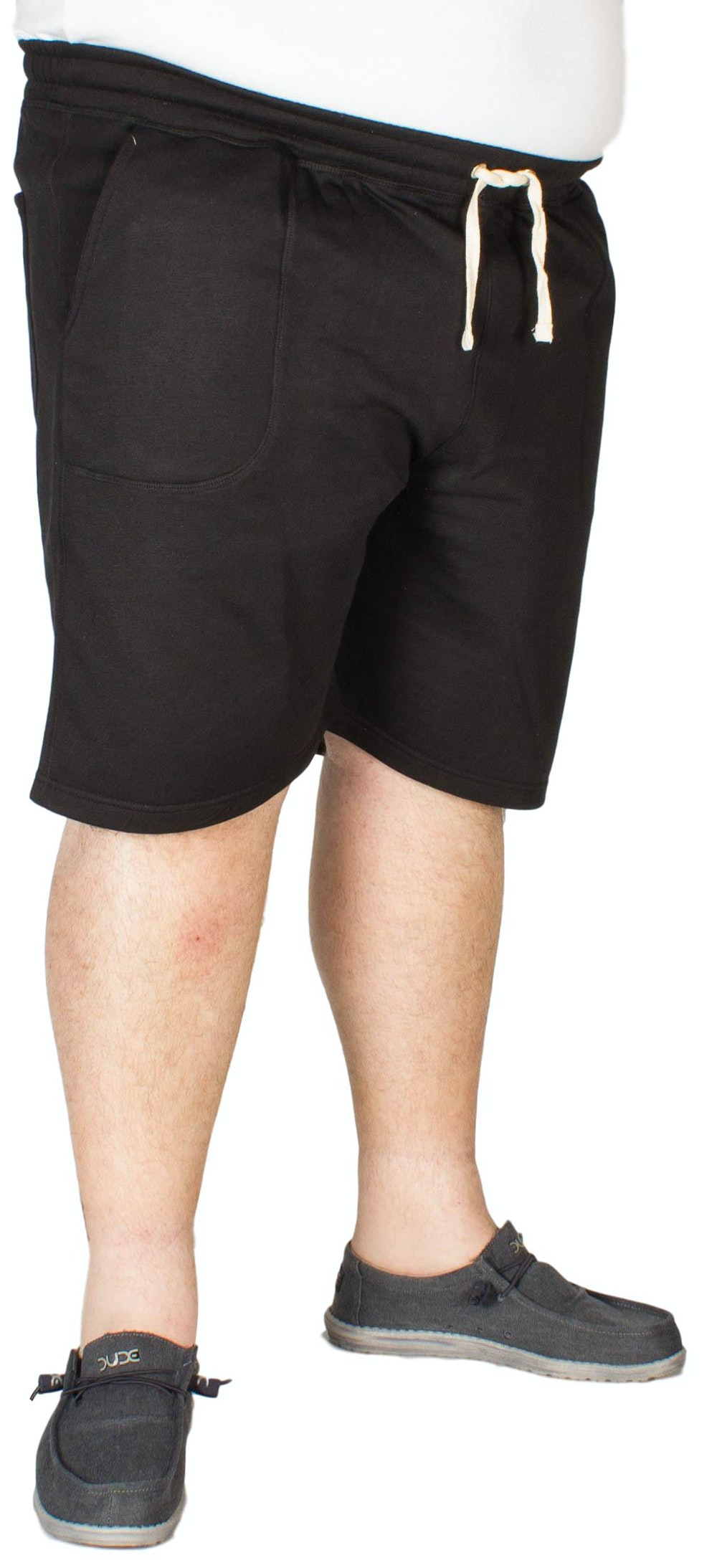 Espionage Plain Fleece Shorts Black