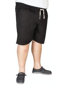 Espionage Plain Fleece Shorts Black