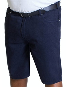 Bigdude Lightweight Denim Shorts Indigo