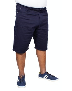 KAM Alba Stretch Denim Shorts Navy