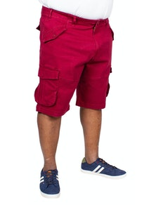KAM Stretch Cargo Shorts Burgundy