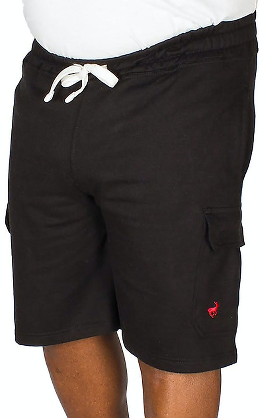 Bigdude Fleece Cargo Shorts Black