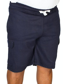 Bigdude Fleece Cargo Shorts Navy