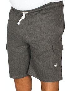 Bigdude Fleece Cargo Shorts Charcoal
