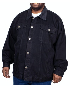 KAM Western Denim Jacket Black