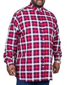 D555 Baltimore Long Sleeve Check Shirt Red