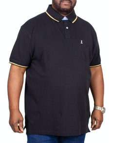 Replika Pocket Tipped Polo Shirt Black