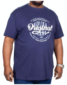 Replika Original Jeans Printed T-Shirt Navy