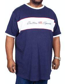 D555 Cullen Couture Cut & Sew T-Shirt Navy