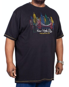 D555 Shelby New York City Printed T-Shirt Black