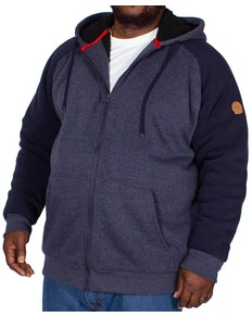 D555 Armstrong Sherpa Lined Hoody Denim