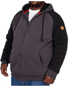 D555 Armstrong Sherpa Lined Hoody Charcoal