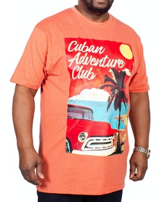 KAM Cuban Printed T-Shirt Rust