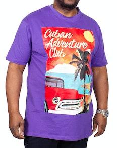 KAM Cuban Printed T-Shirt Violet