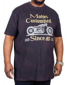KAM Customised Motors Washed T-Shirt Black